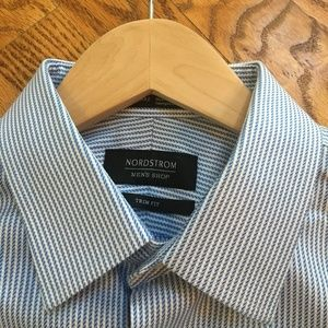 "Nordstrom Trim Fit Button Down Size 15.5"" 34-35"